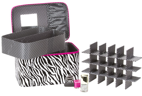 caboodles nail valet nail polish storage case interior Storage Solution   Caboodles Gilded Pleasure Nail Valet