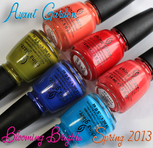 china glaze avant garden blooming brights nail polish collection spring 2013 China Glaze Avant Garden Blooming Brights for Spring 2013 Swatches & Review
