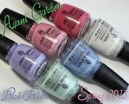 china glaze avant garden pastel petals nail polish collection spring 2013 China Glaze Avant Garden Pastel Petals for Spring 2013 Swatches & Review