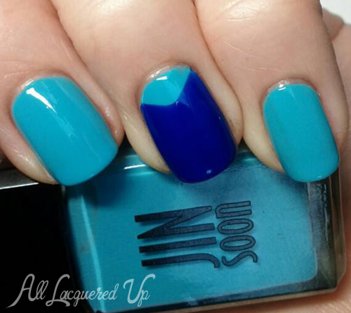 jin soon blue iris poppy chevron nail art nail polish swatch JINsoon Botanical Flowers Spring 2013 Nail Polish Review & Swatches