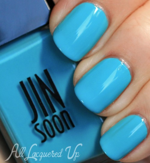 jin soon blue poppy nail polish swatch botanical flowers spring 2013 500x545 JINsoon Botanical Flowers Spring 2013 Nail Polish Review & Swatches