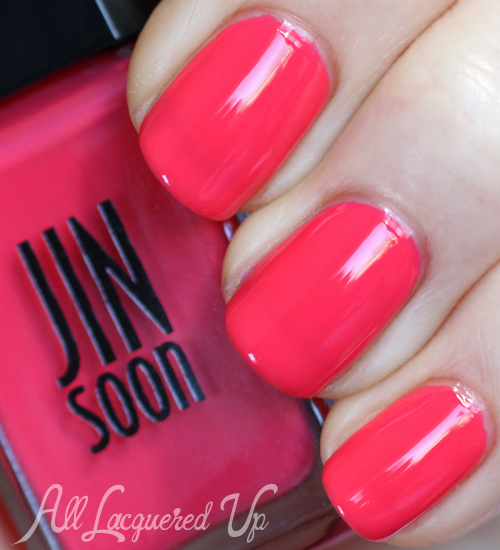 jin soon coral peony nail polish swatch botanical flowers spring 2013 JINsoon Botanical Flowers Spring 2013 Nail Polish Review & Swatches