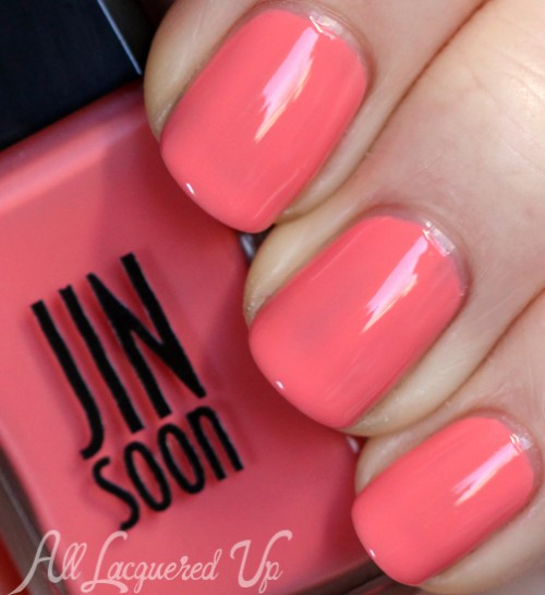 jin soon tea rose nail polish swatch botanical flowers spring 2013 500x546 JINsoon Botanical Flowers Spring 2013 Nail Polish Review & Swatches