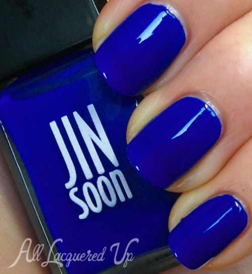 jinsoon blue iris nail polish jin soon 500x545 JINsoon Botanical Flowers Spring 2013 Nail Polish Review & Swatches