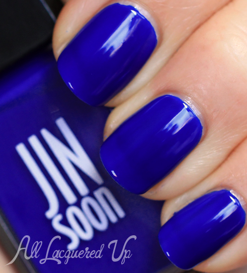 jinsoon blue iris nail polish swatch botanical flowers spring 2013 jin soon JINsoon Botanical Flowers Spring 2013 Nail Polish Review & Swatches