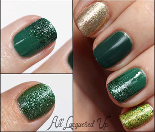 st patricks day manicure nail art gradient glitter ombre polish Mani Monday   My St. Patricks Day Manicure aka What Happens When I Cant Make A Decision