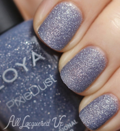 zoya nyx pixie dust nail polish swatch texture spring 2013 500x547 Zoya PixieDust Texture Nail Polish Swatches & Review