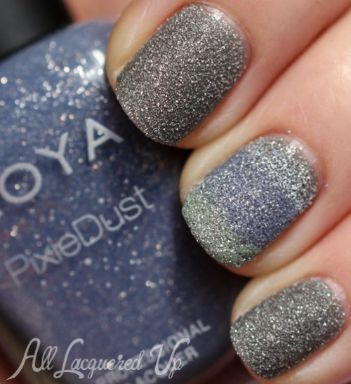 zoya pixie dust nail art stripe sand texture nail polish 500x547 Zoya PixieDust Texture Nail Polish Swatches & Review