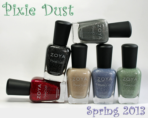 zoya pixie dust sand texture nail polish collection spring 2013 Zoya PixieDust Texture Nail Polish Swatches & Review