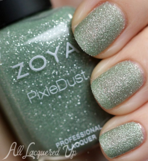 zoya vespa pixie dust nail polish swatch texture spring 2013 500x546 Zoya PixieDust Texture Nail Polish Swatches & Review