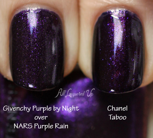 Chanel Taboo Nail Polish Swatch Comparison