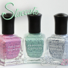 "Deborah Lippmann ""Staccato"" Speckled Nail Polish Collection Swatches & Review"