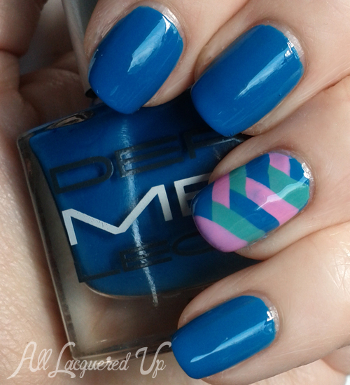 Fishtail braid manicure using Dermelect Fearless Beauty nail polish