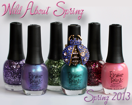 fingerpaints wild about spring 2013 nail polish collection FingerPaints Wild About Spring Nail Polish Swatches & Review