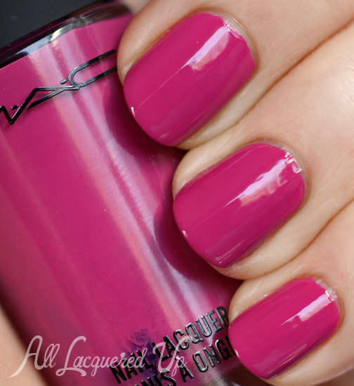 MAC Embrace Me nail polish swatch