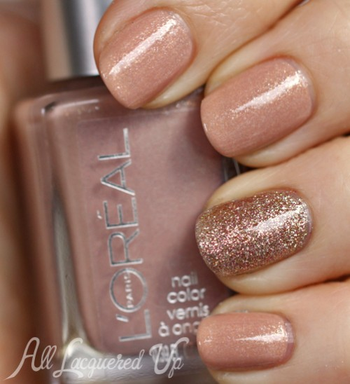 mani-monday-china-glaze-champagne-kisses-loreal-so-chic-nail-polish-swatch