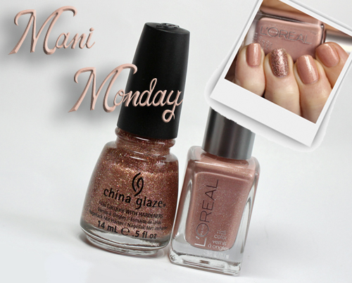 mani monday subtle sparkle loreal china glaze Mani Monday   Subtle Sparkle with LOreal Paris and China Glaze Nail Polish