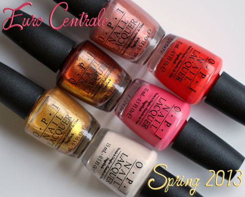 OPI Euro Centrale Spring 2013 nail polish collection
