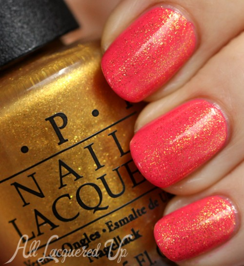 OPI Oy-Another Polish Joke layered over Suzi's Hungary Again!