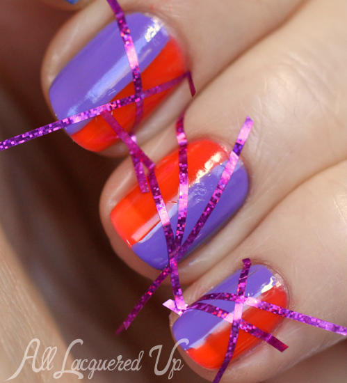Striping Tape Nail Art Tutorial: '80s Striping Tape Nails With Revlon