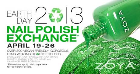 Zoya Earth Day 2013 Nail Polish Exchange