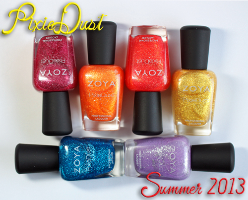 Zoya PixieDust Summer 2013 textured nail polish collection