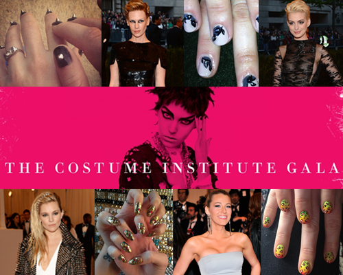 2013 met ball costume institute gala nail art 14 Punk Inspired Nail Art Looks from Last Nights Met Gala