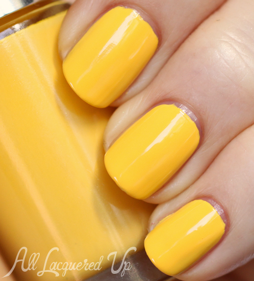 Clinique 70° and Sunny nail polish swatch