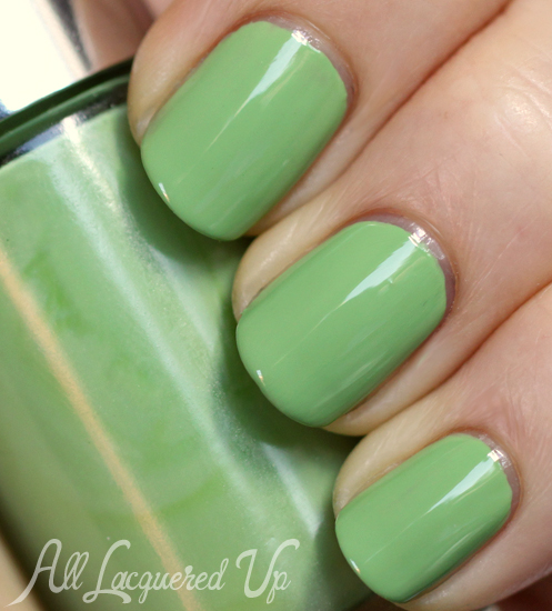 Clinique Hula Skirt nail polish swatch