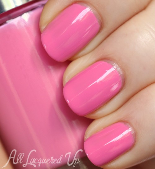 Clinique Pinkini nail polish swatch