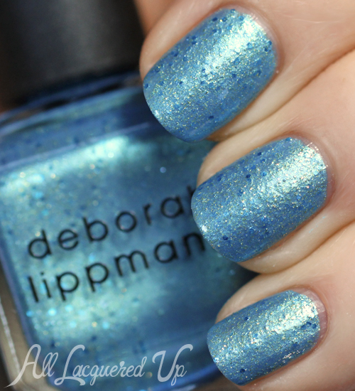 Deborah Lippmann Mermaid's Eyes nail polish swatch