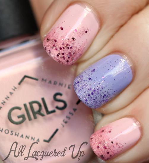 Deborah Lippmann Mermaids Glitter Gradient Nail Art