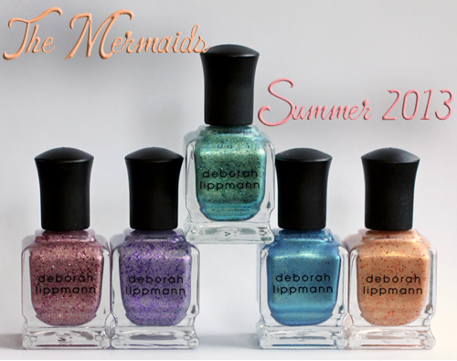 deborah lippmann mermaids summer 2013 nail polish collection Deborah Lippmann The Mermaids Summer 2013 Nail Polish Swatches & Review