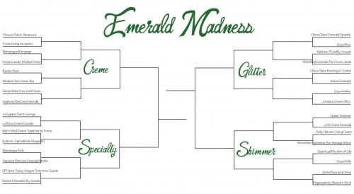 Emerald Madness Nail Polish Bracket