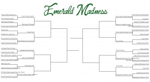 emerald madness bracket round 2 500x274 Emerald Madness   Sweet Sixteen Voting Now Open