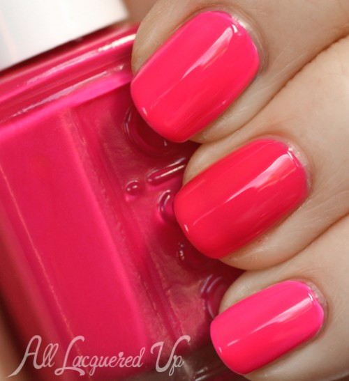Essie Bottle Service neon nail polish swatch