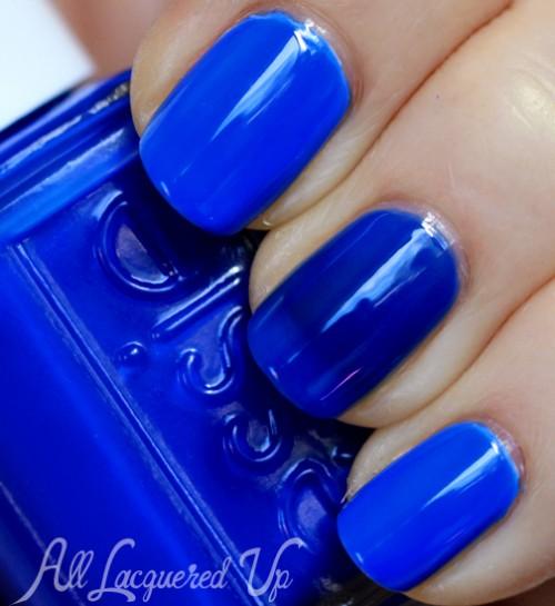 Essie Bouncer It's Me neon nail polish swatch