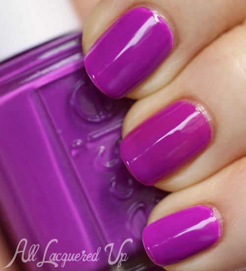 Essie DJ Play That Song neon nail polish swatch