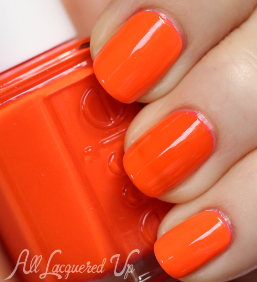 Essie Saturday Disco Fever neon nail polish swatch