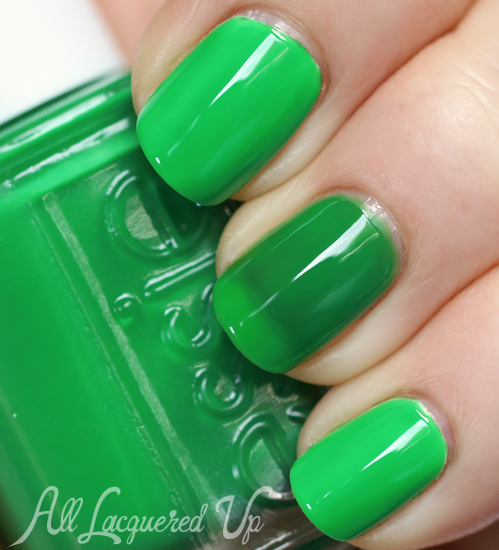Essie Shake Your $$ Maker neon nail polish swatch