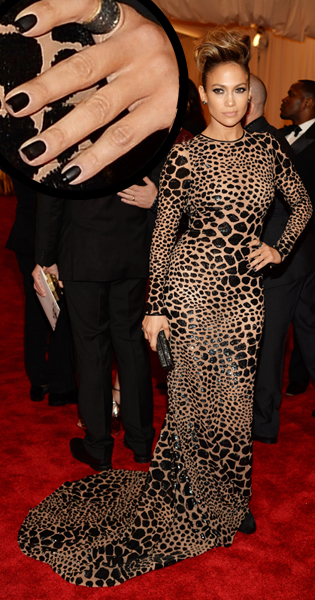 Jennifer Lopez JLo nail art for the Met Gala 2013 by Elle