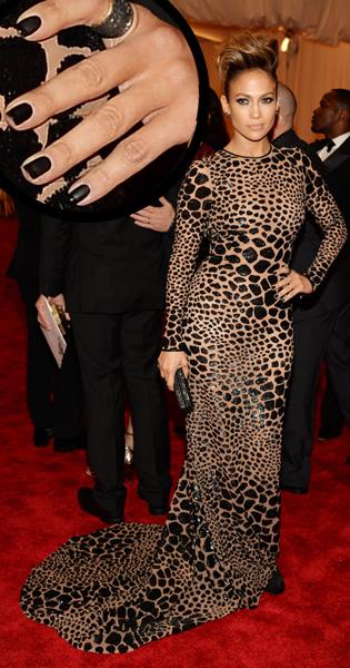 Jennifer Lopez JLo nail art for the Met Gala 2013 by Elle
