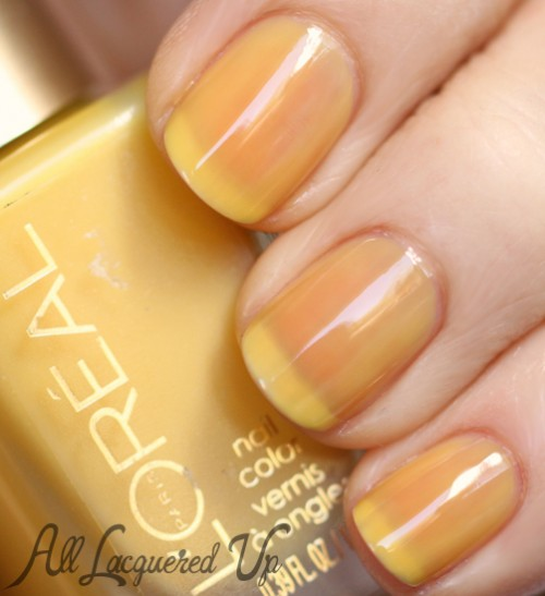 L'Oreal Paris Bananarama Love jelly nail polish swatch