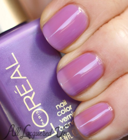 L'Oréal Paris Lilac Coolers jelly nail polish swatch