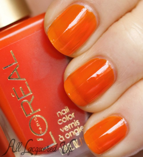 L'Oréal Paris Mango Mama jelly nail polish swatch
