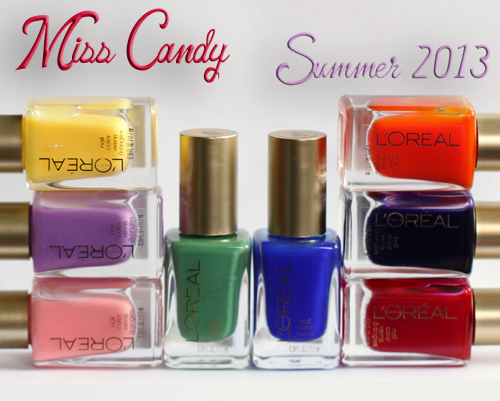 loreal miss candy jelly gelly nail polish collection LOreal Paris Miss Candy Colour Riche Nail Polish Collection Swatches & Review