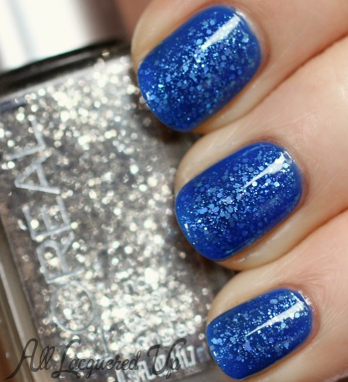 Jelly glitter sandwich manicure using L'Oréal Paris Miss Candy Colour Riche Nail Polish