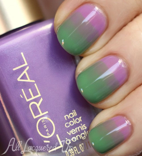 Syrup gradient nail art using L'Oréal Paris Miss Candy Colour Riche Nail Polish