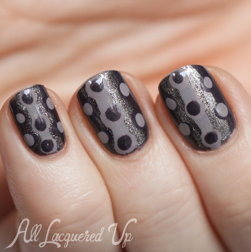 Physician's Formula Shades of Grey Endless Color retro polka dot nail art