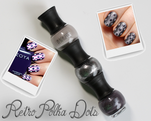 retro polka dot manicure nail art pinspirationail PinspiratioNAIL   Retro Polka Dots with Physicians Formula Endless Color